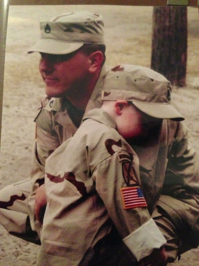 Kevin and our oldest son Lee prior to Kevin's second combat deployment.