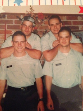 Kevin is the bottom left, this was during AIT just after basic training and only a few weeks prior to his first combat deployment to Somalia. He was 19.